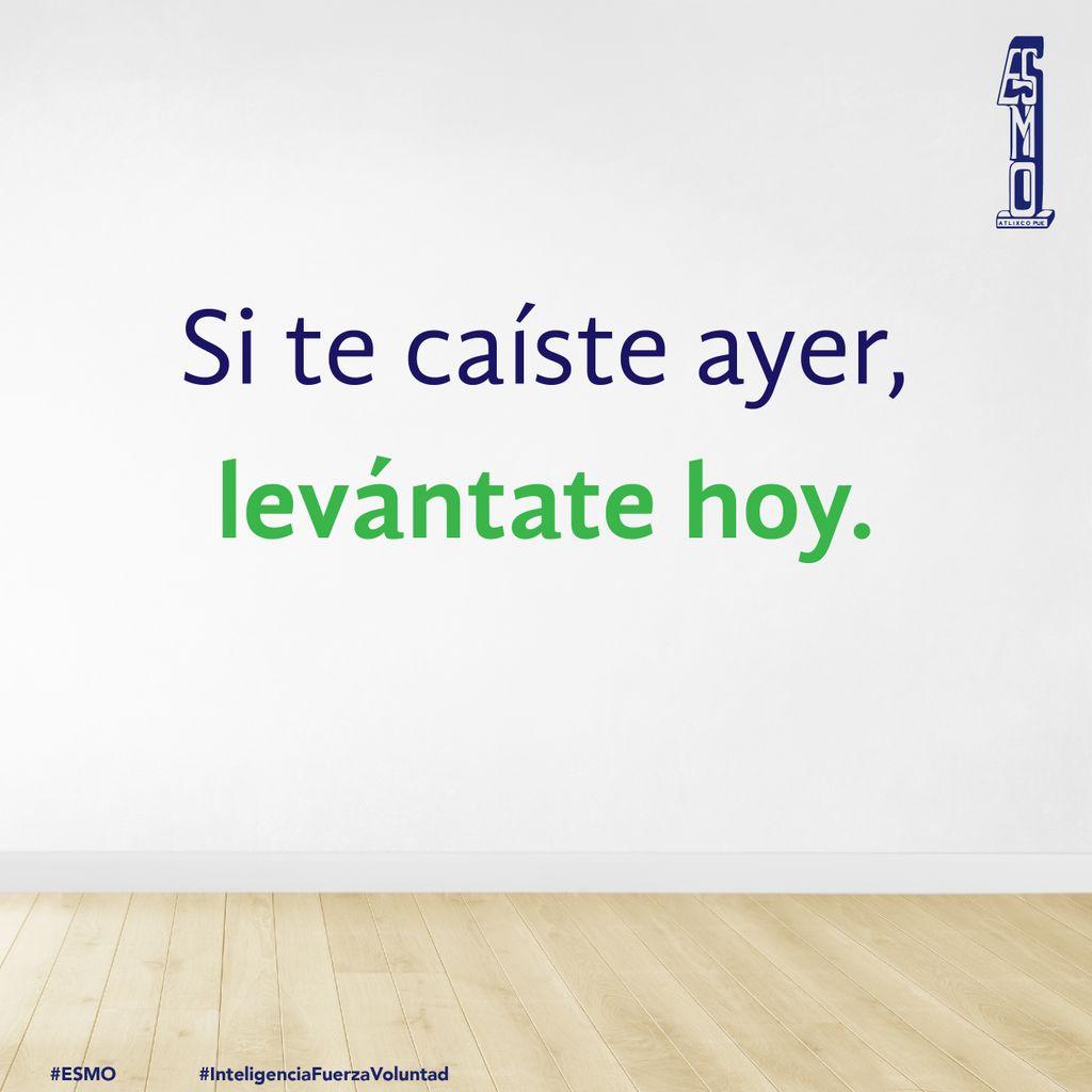 🦾Hoy vamos a lograr los cometidos que ayer no pudimos ✅. Éxito es un nuevo día 👍🏻.   #FelizJueves  #ESMO #InteligenciaFuerzaVoluntad #Atlixco #Puebla  #EducaciónBásica #AccionesPorLaEducación