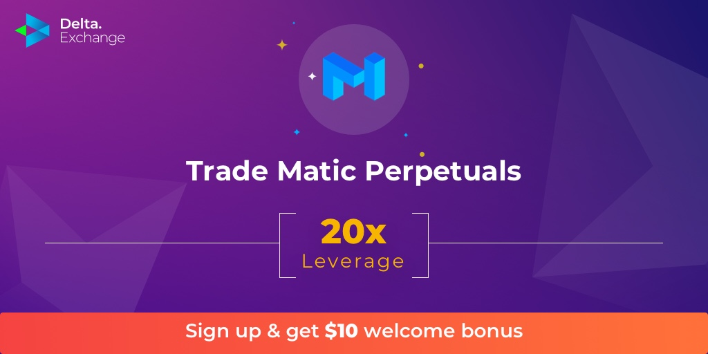 Excited to partner with @maticnetwork and list $MATIC perpetual contract on Delta Exchange. 20x leverage, quoted and settled in $BTC. Take advantage of our $10 welcome bonus and make your first trade in our $MATIC contract!  https:// bit.ly/32Mvm1F    <br>http://pic.twitter.com/lzIEszq5Rk