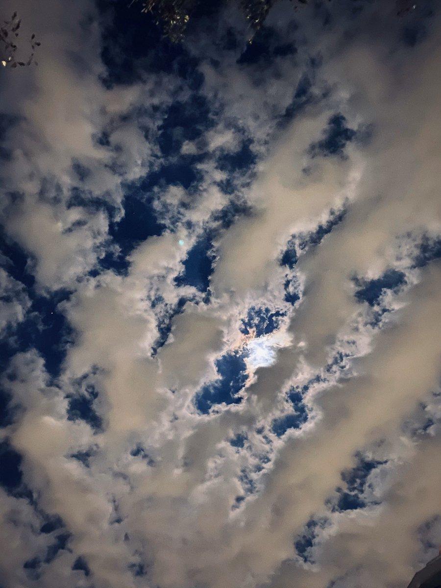 収録終わりやした〜こんばんは!めちゃめちゃ寒くないですか……!?帰り道の夜空を撮ったんですがまるでお昼のよう。最近のiPhoneくんはすごいですな