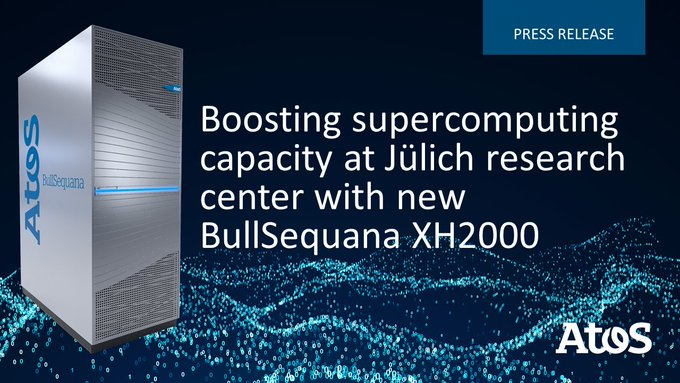 Together with @fz_juelich we'll work to extend their existing JUWELS #BullSequana #Supercomputer...