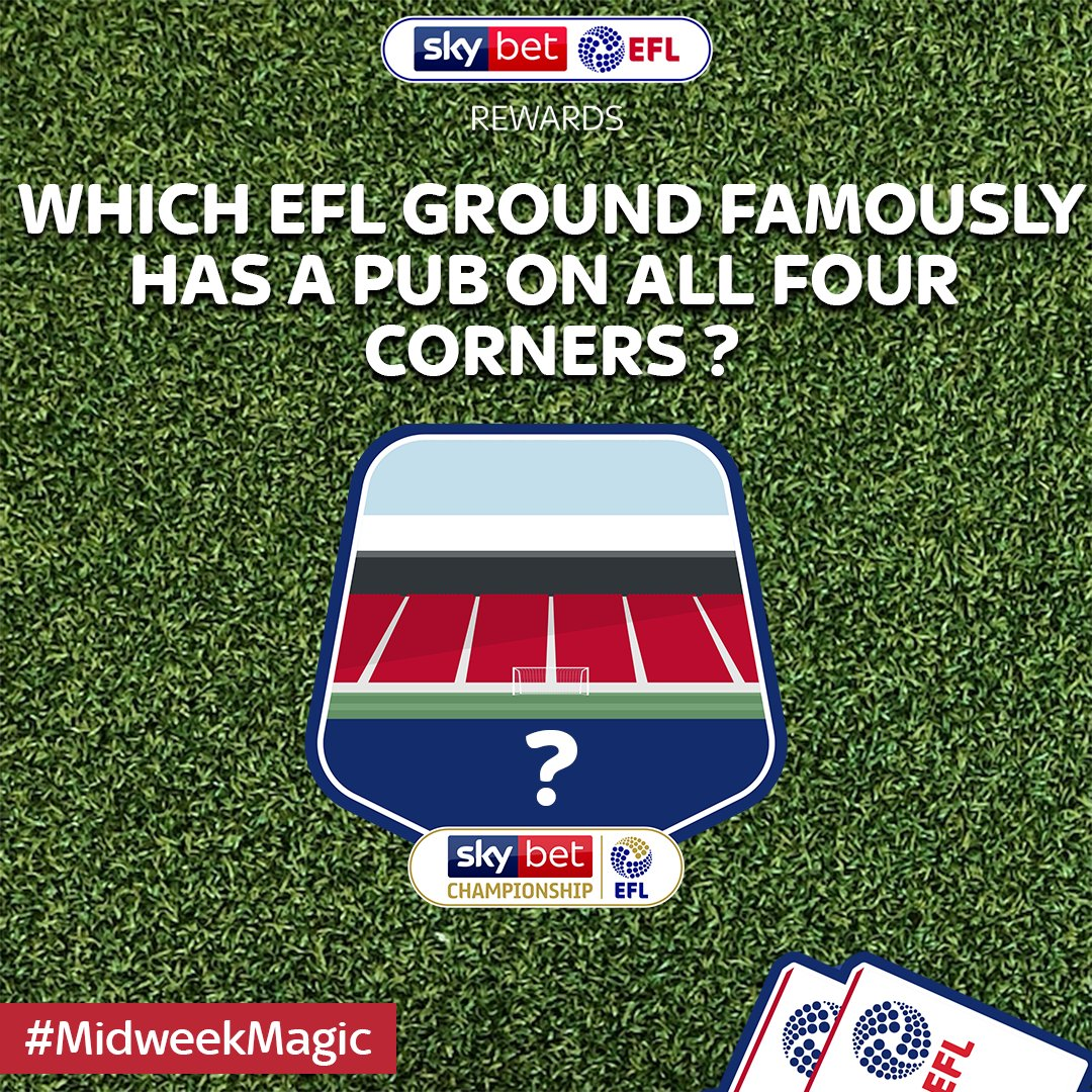 🌟 Its time for some #MidweekMagic! 😳 TWO #EFL tickets are up for grabs for one lucky winner! 👇 Answer the question below for a chance to win 👩⚖️ Competition closes at 5pm tomorrow, one winner to be selected at random