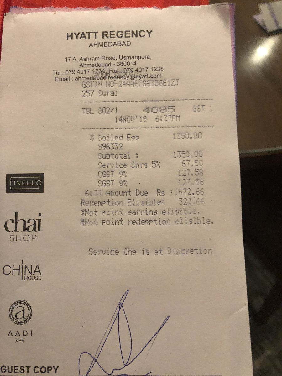 5-star hotel in Amdavad charge famous music composer Shekhar 'Exorbitant' Rs 1674 for just 3 boiled eggs