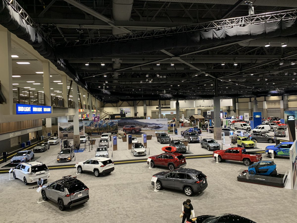 The @SeaAutoShow is up and zooming 🚗 📍CenturyLink Field Event Center 🗓Now-Sunday More details: seattleautoshow.com