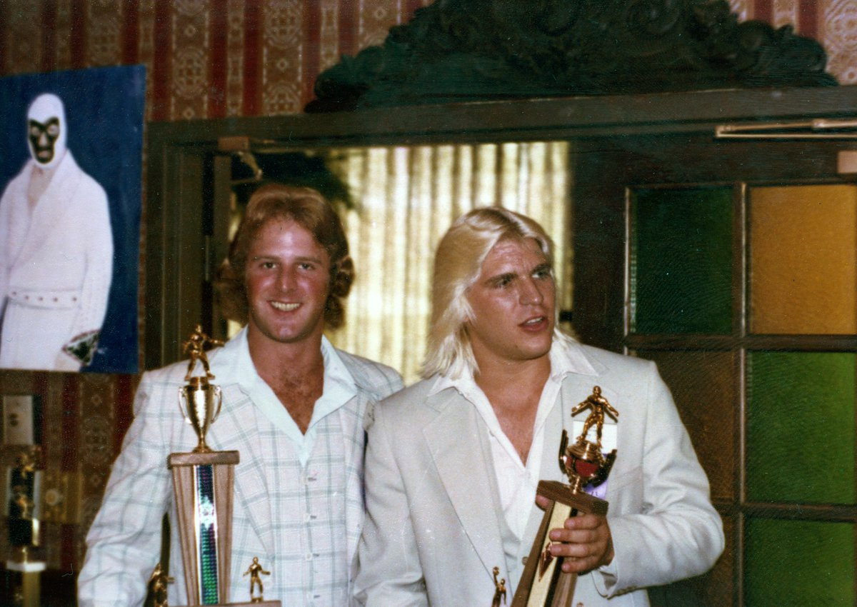 Mike Davis and Tommy Rich at a WFIA Convention.