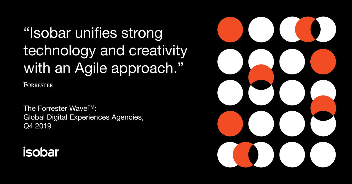 "Forrester has recognised Isobar as a Strong Performer in ""The Forrester Wave™: Global Digital Experience Agencies, Q4 2019."" Read more here: https://fal.cn/3553k"
