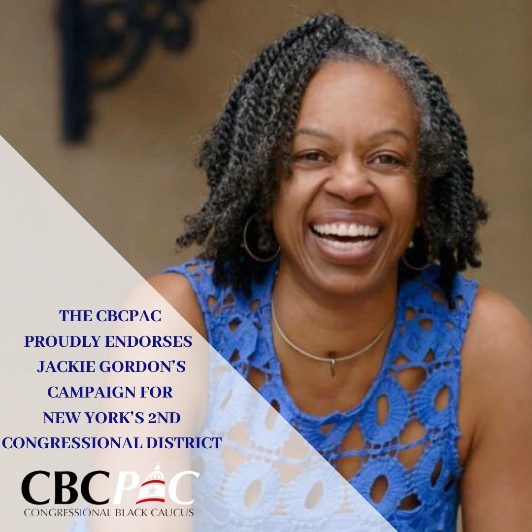 The #CBCPAC The #CBCPAC is proud to endorse @VoteJackie4NY in her campaign for New York's 2nd Congressional District!