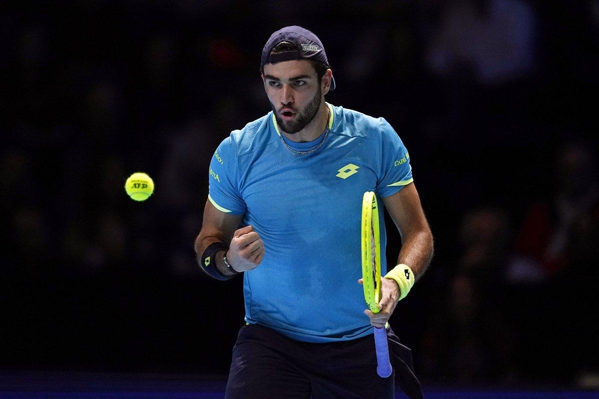 ATP Finals. Берреттини установил национальный рекорд, обыграв Тима