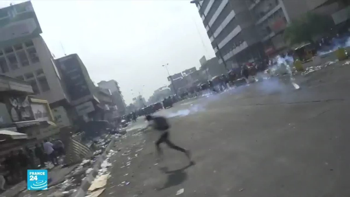 ▶️ العراق: قتلى وجرحى خلال فض الشرطة للمظاهرات في بغداد https://f24.my/5pf3