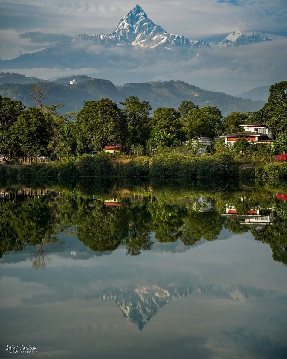 Welcome to the parallel world.  📷: Bijay Gautam Chettri  #nepal8thwonder #nepal🇳🇵 #nepal_love #nepaltravel #amazingnepal #discovernepal #nepal_visuals #explorenepal #sulavyatra #visitnepal2020 #pokhara