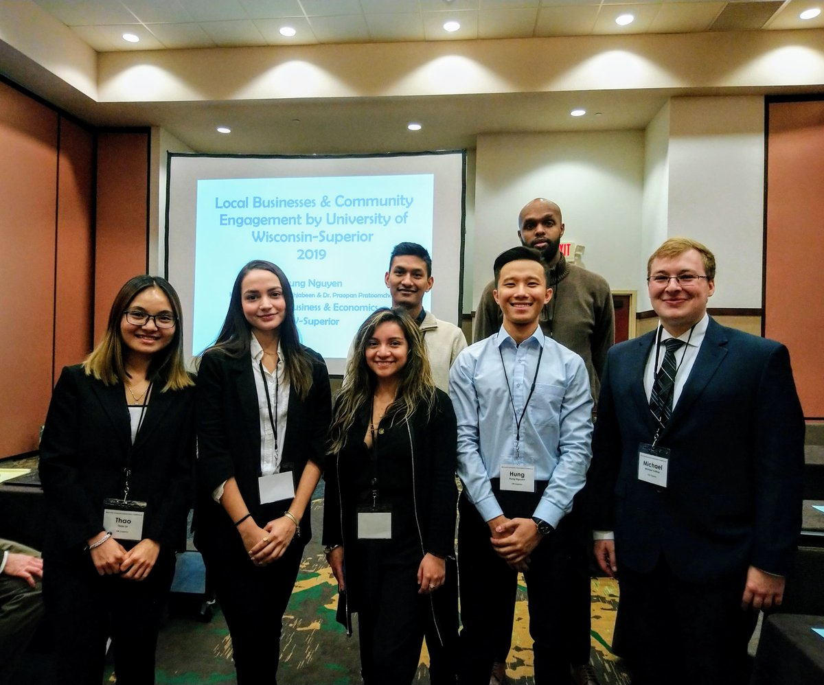 Students from UW-Superior's School of Business and Economics participated & presented research at the Wisconsin Economics Association's annual meeting. https://t.co/WHCu6XDt5y https://t.co/qc1AQYcCg7