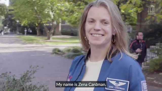 Zena Cardman's time at #UNC launched her dreams of going to space 🚀 Watch @zenanaut return to Carolina and share stories about her experiences as a @NASA astronaut and her ambition to be the first woman on the moon 🌕 https://t.co/mDlXyadBtK https://t.co/l1itS7w6V7