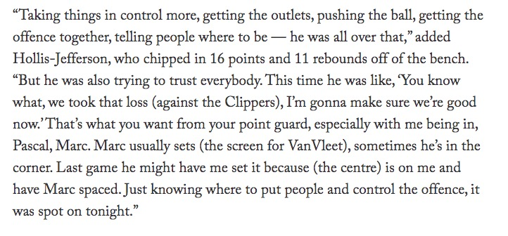 "Fred VanVleet joked after last night's win that he should be in line for ""the anti-load management award."" If he keeps playing like this, he'll be in line for something with a lot more value: theathletic.com/1377709/2019/1…"