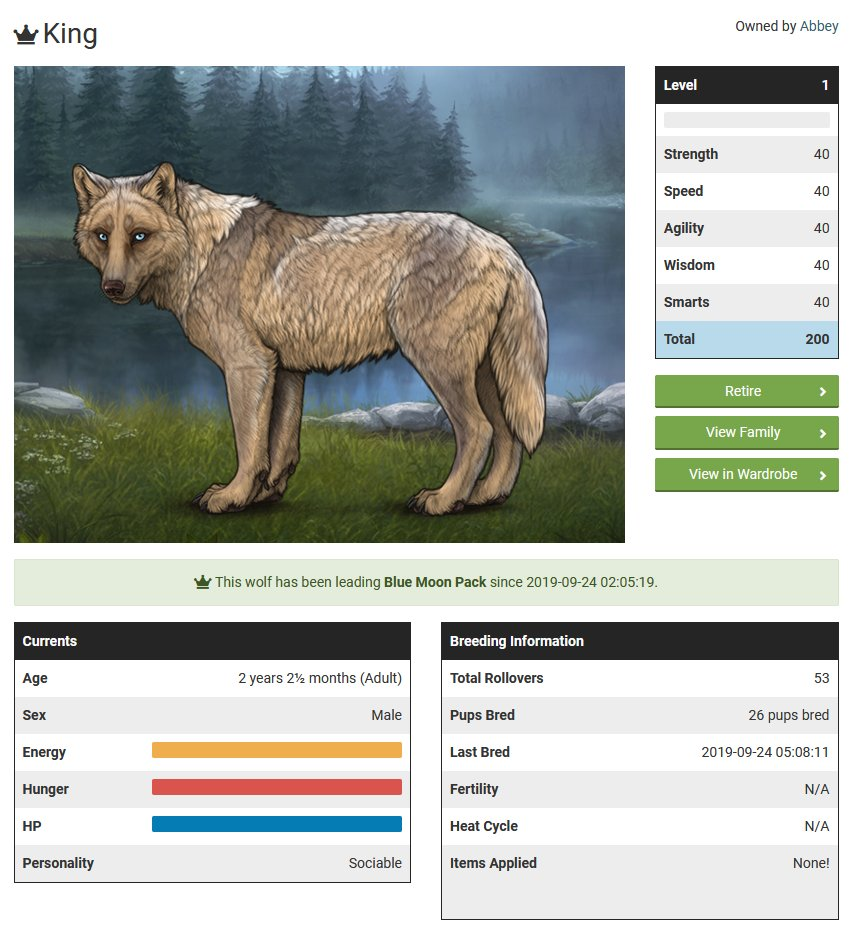 A peek at the top half of the wolf page on #Wolvden which displays how we've integrated both age options from previous teasers!