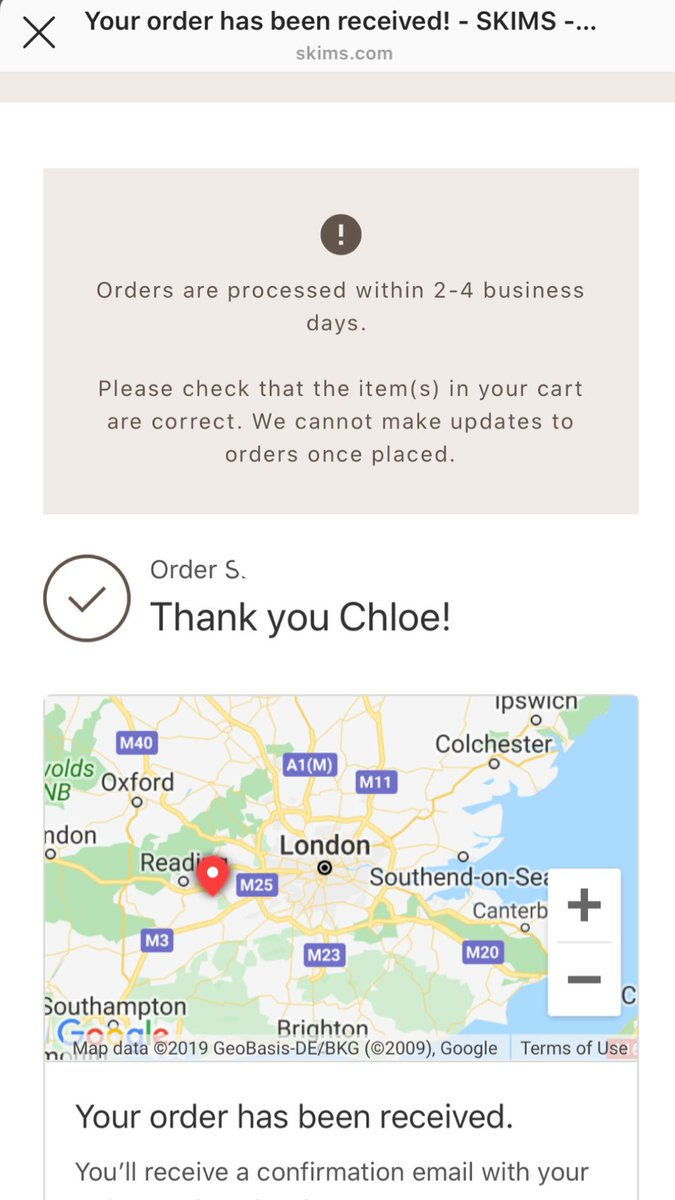 All the way from the UK and I'm soooo excited to receive my goodies!! @KimKardashian  @skims  thank you for creating something so amazing to help us girls feel our best ❤️
