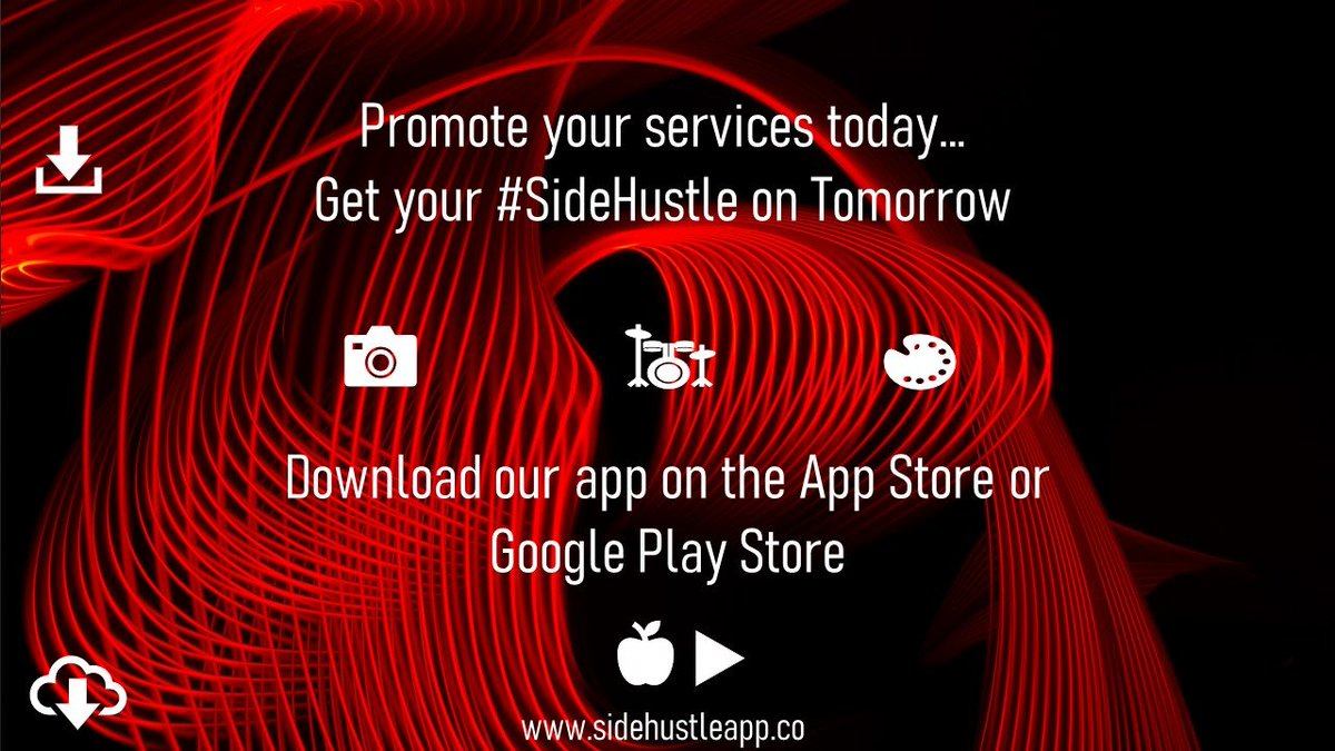 Promote your services today... Get your #SideHustle on Tomorrow . . .  #SideHustle #SideHustleApp #AppStore #GooglePlayStore #Iphoneios #Android #DownloadApp #Startupapp #smallbusinesscaliforniapic.twitter.com/8j3jGQB0sP