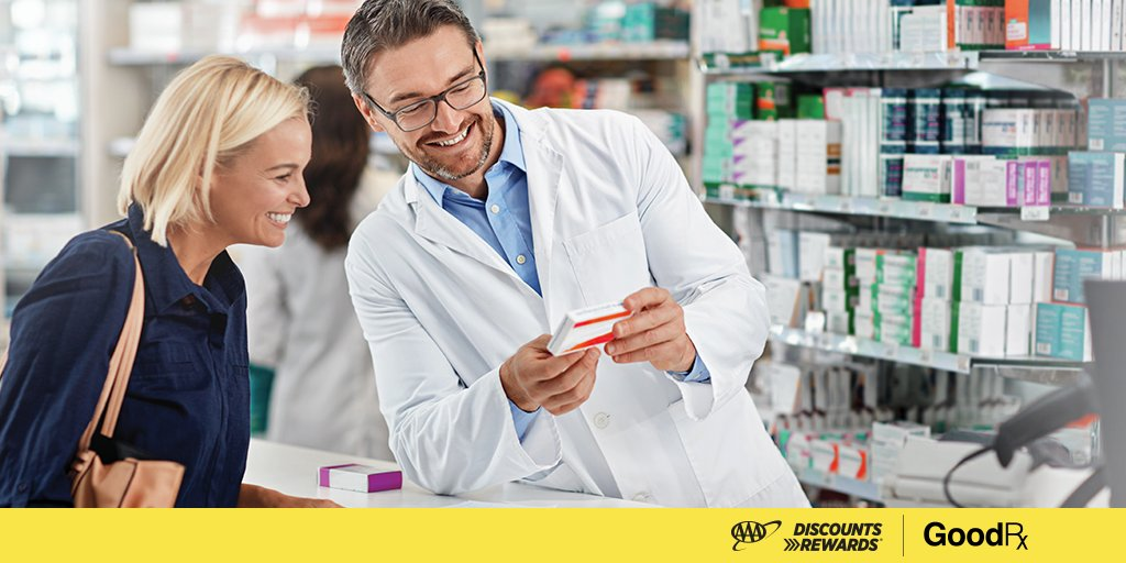 Visit  to find deeper discounts on your prescriptions with the new GoodRx program for AAA members. #AAADiscounts #GoodRx #AAA