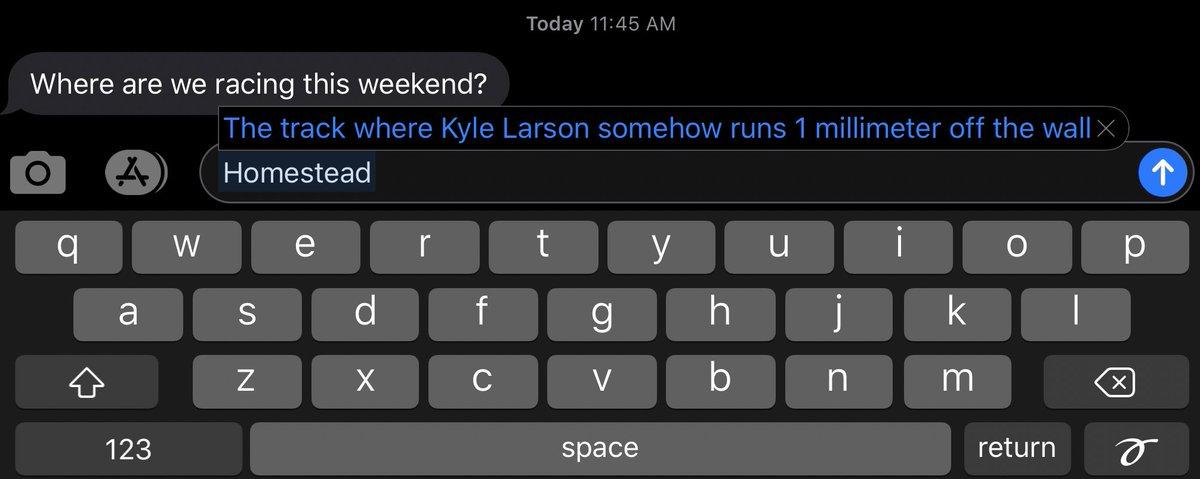 Thank you autocorrect 📲  @HomesteadMiami   #TeamLarson