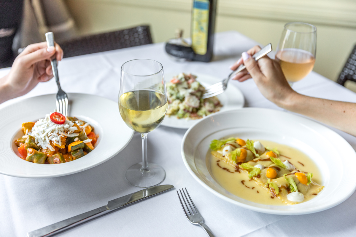 Sharing is most definitely caring at Piccolo Sogno.