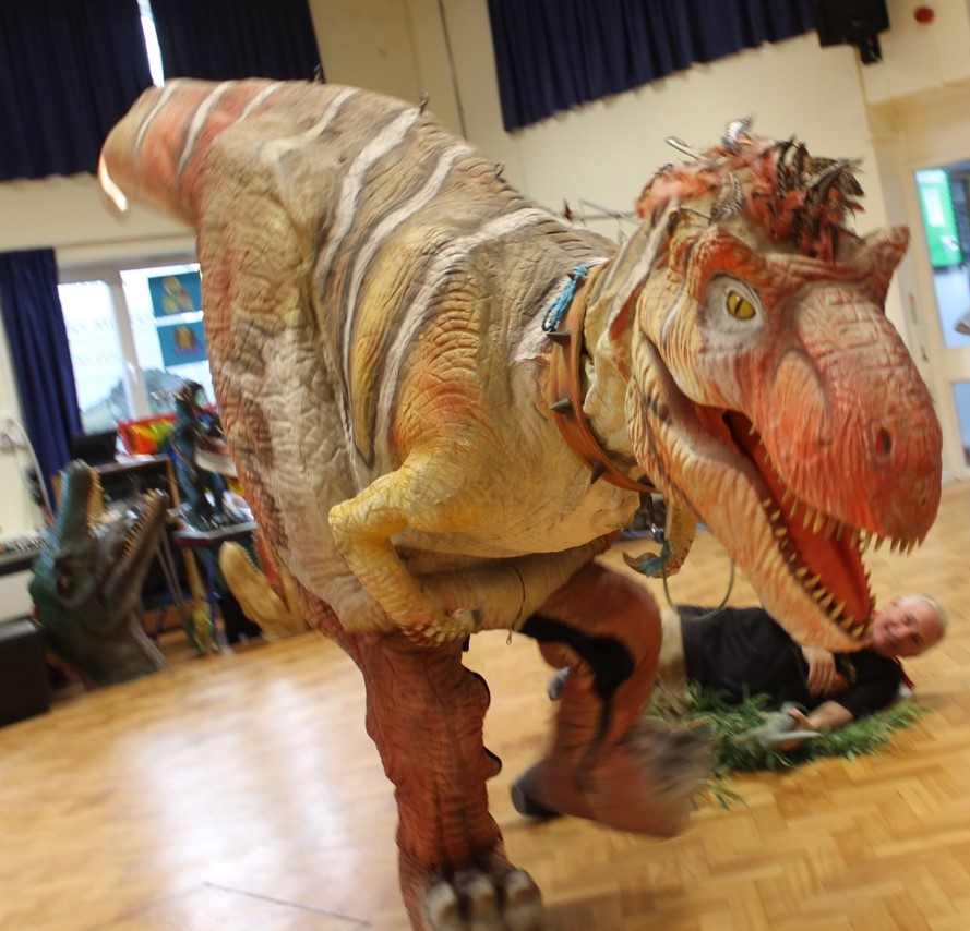 Our Year 3 class had a dinorific day today! We were visited by the Travelling Natural History Museum. We saw lots of life-like models of dinosaurs and were lucky enough to touch some real fossils, and the arm of a T-Rex! He caused a lot of mischief trying to eat the teachers!