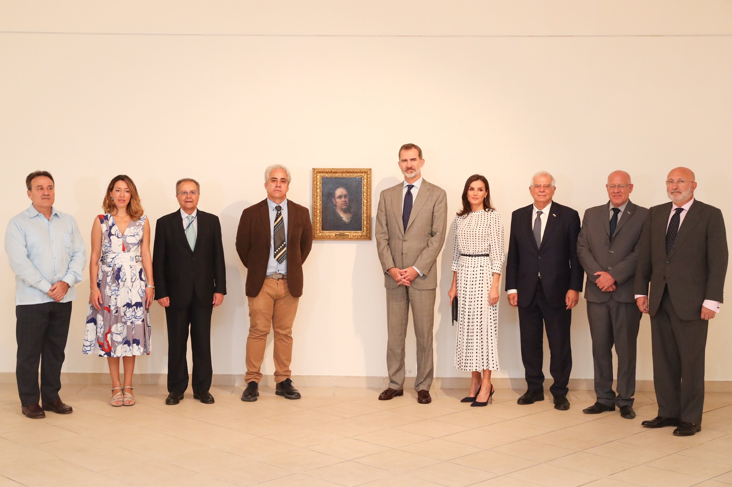 King and Queen of Spain visit National Museum of Fine Arts