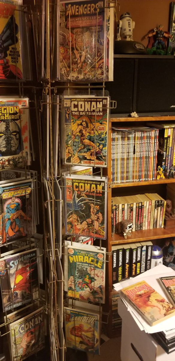 Marvels first run Conan occupies a large portion of my spinner rack. Displaying my favorite comics. <br>http://pic.twitter.com/WasNTu97Z7