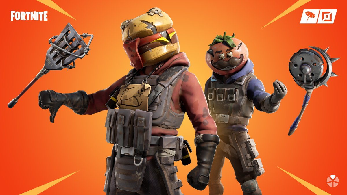 Good food gone bad.  The Hothouse and Gutbomb Outfits are available in the Item Shop now!