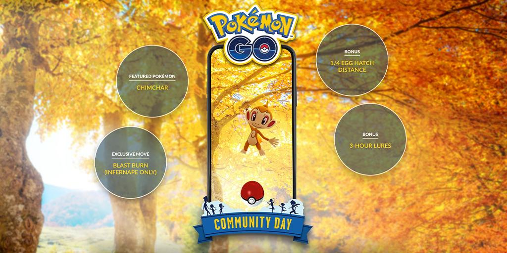 Pokemon Go November Community Day: Start Time, Shiny Chimchar, And More - GameSpot