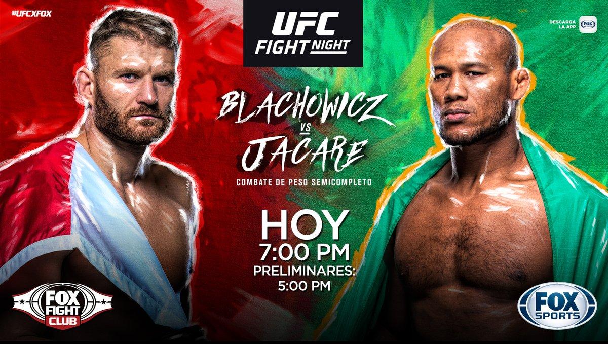 ¡UFC FIGHT NIGHT CON LOS EXPERTOS!  Jan Blacjowicz vs. Ronaldo Souza en la pelea estelar:   🎙️ - @SalasJiujitsu 🎙️ - @mariodelgadorzm 🎙️ - @GersonMarlon  📺: FOX Sports  💻📱🖥️: http://goo.gl/nqVGjo