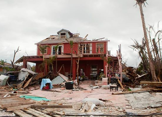 """""""No matter where you go on Great Abaco Island, all the images are the same. Complete devastation of people's homes, places of work, schools & churches. They will be cleaning, repairing, & recovering from this storm for months & years to come."""" - @humanizingstory #HurricaneDorian"""