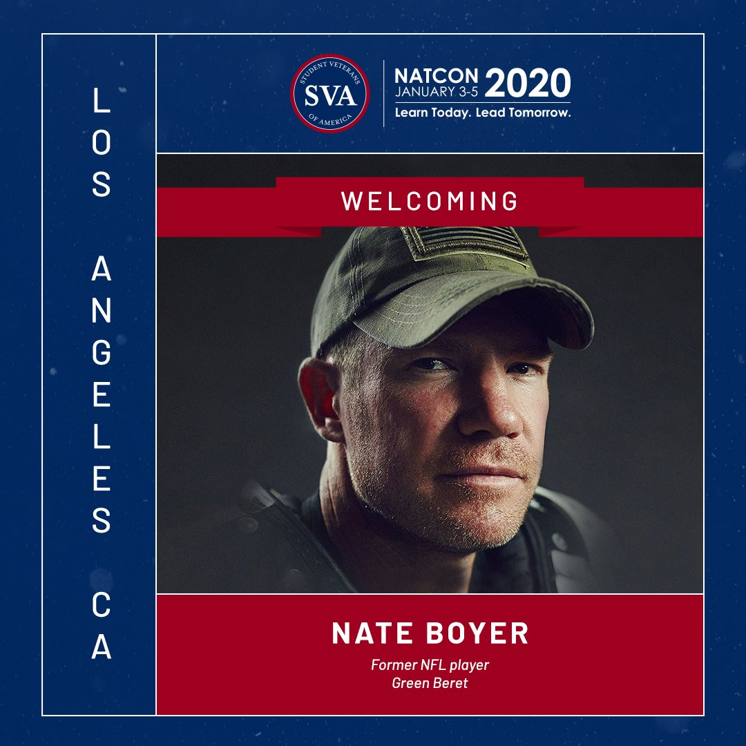 What do @NateBoyer37 and @Randy_Couture have in common? Veterans ✅ Athletes ✅ Attending #NatCon2020 ✅ Register today to join them in Los Angeles: conference.studentveterans.org