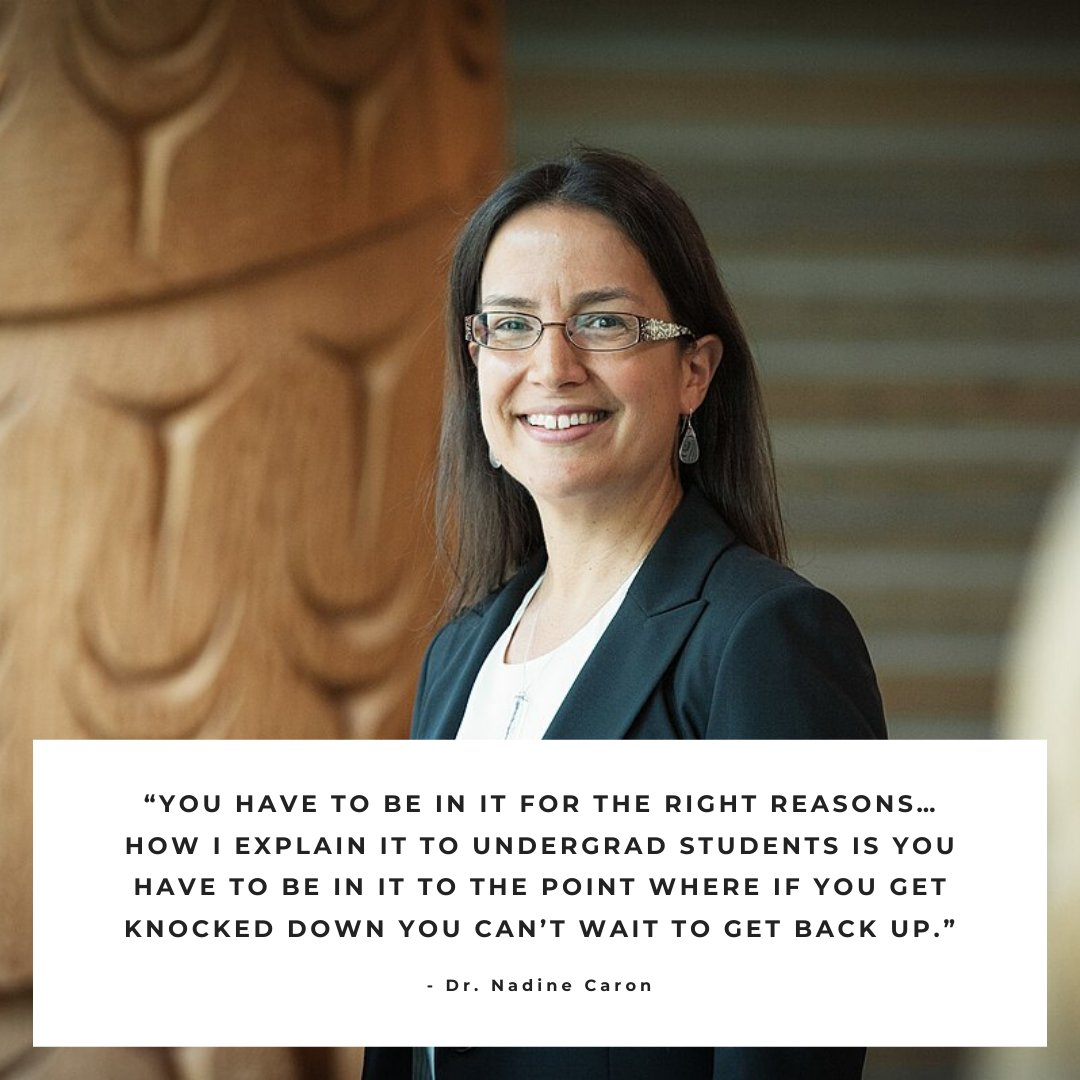 While you are getting ready for finals next week, keep in mind this important lesson from Dr. Nadine Caron. #NativeAmericanHeritageMonth #NAHeritage #motivation