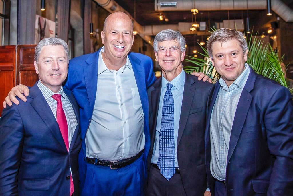 "Quite the photo of a dinner with Kurt Volker, Gordon Sondland, Bill Taylor and Zelensky adviser Oleksandr Danylyuk in Kyiv — posted by the latter on July 26, the day Trump was overheard on a phone call with Sondland asking about ""investigations."""
