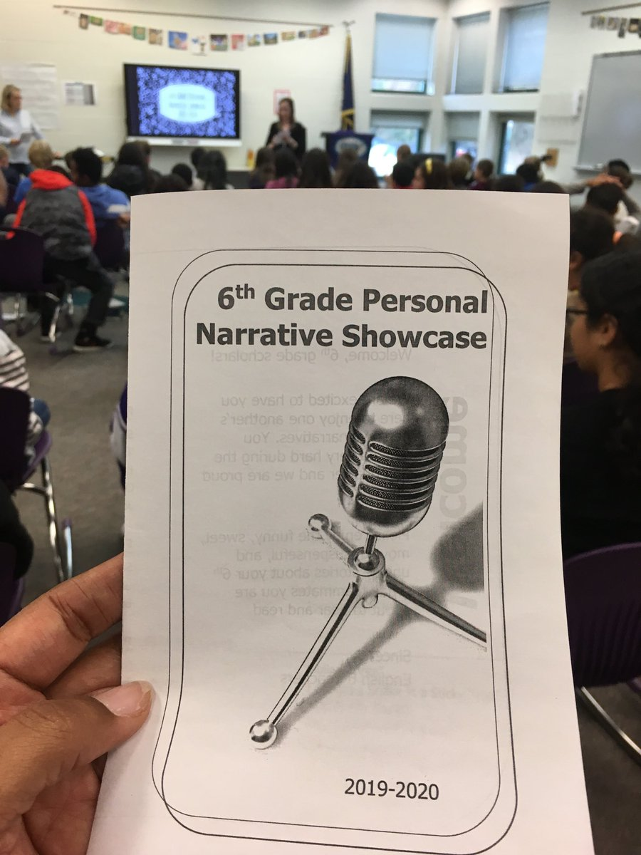 Super excited for 6th Grade Personal Narrative Showcase! Stomp! Clap! Woo! to the ELA teachers and fabulous student authors. <a target='_blank' href='http://search.twitter.com/search?q=GunstonPRIDE'><a target='_blank' href='https://twitter.com/hashtag/GunstonPRIDE?src=hash'>#GunstonPRIDE</a></a> <a target='_blank' href='https://t.co/ulTphI5MXh'>https://t.co/ulTphI5MXh</a>