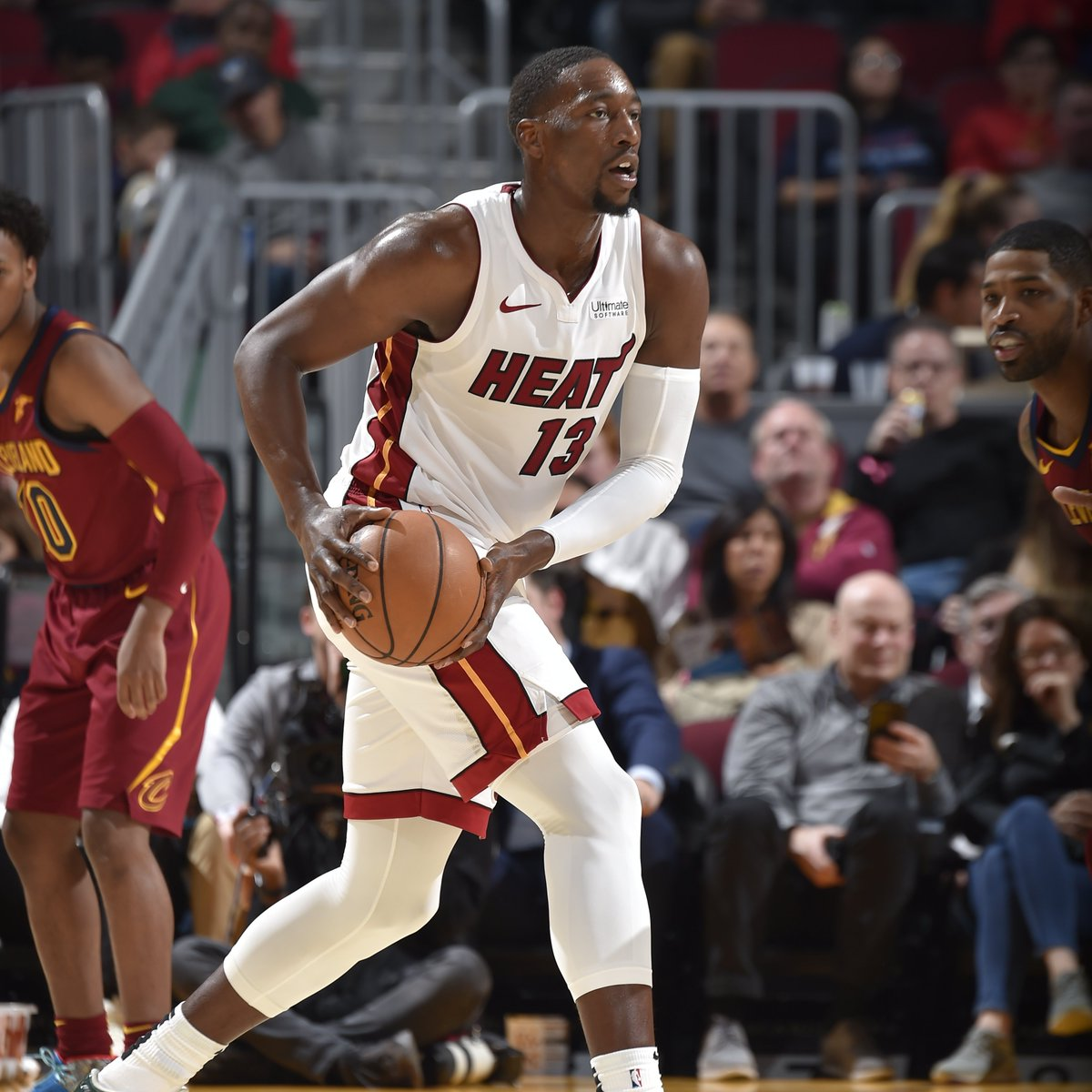 Bam Adebayo stuffs the stat sheet in the first half! 💪  9 PTS, 10 REB, 5 AST, 1 BLK, and 30.5 FPTS.
