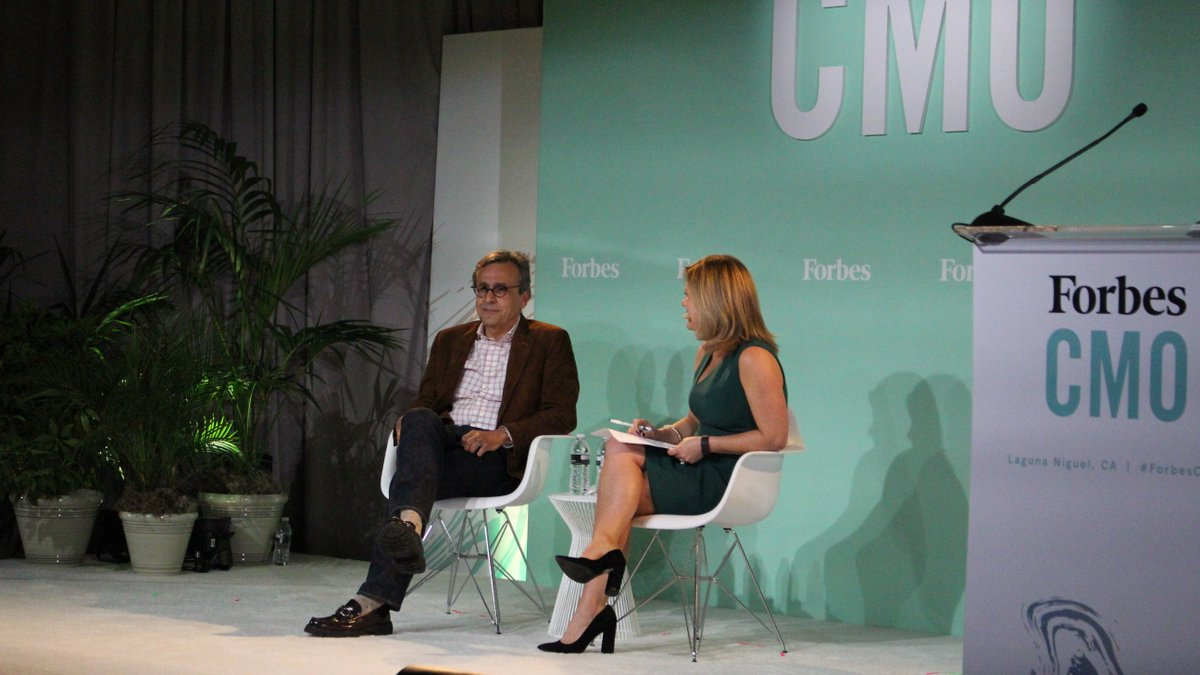 """Facebook CMO Antonio Lucio: """"If you make a decision and you put on focus, discipline and consistency, big things can happen. That's what we're committed to doing."""" #ForbesCMO"""