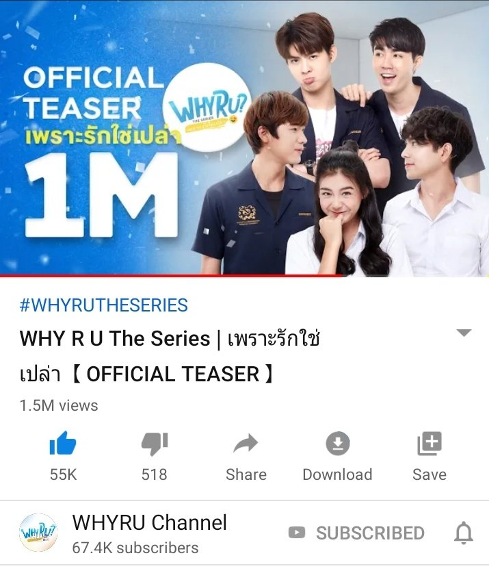1.5M views for the teaser!!! Congrats!!!  Let this achievement encourage the team to do the shooting today  #WhyRUTheSeries #ZaintSee #mii2<br>http://pic.twitter.com/OCj7aFpwTS