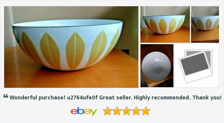 "Cathrineholm Norway Mustard & White 9 1/2"" Enamel Metal Lotus Bowl Danish Modern | eBay #cathrineholm #madeinnorway #danishmodern #midcenturymodern #enamelware #caturday #saturdaymotivation  http://rover.ebay.com/rover/1/711-53200-19255-0/1?ff3=4&pub=5575282018&toolid=10001&campid=5338064414&customid=&mpre=https%3A%2F%2Fwww.ebay.com%2Fitm%2F174014978538…"