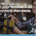 Image for the Tweet beginning: Have your say on employment