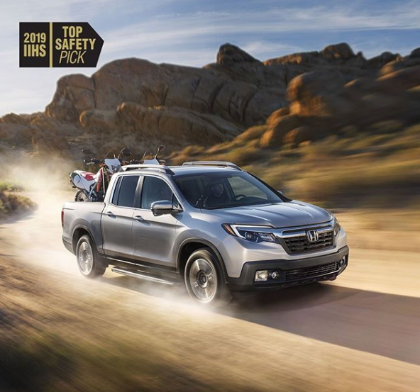 The Honda Ridgeline is the first pickup to earn a 2019 IIHS TOP SAFETY PICK rating. This calls for a victory lap!  #honda #victory #ridgeline #2019 #hondaridgeline #dayton #castrucci