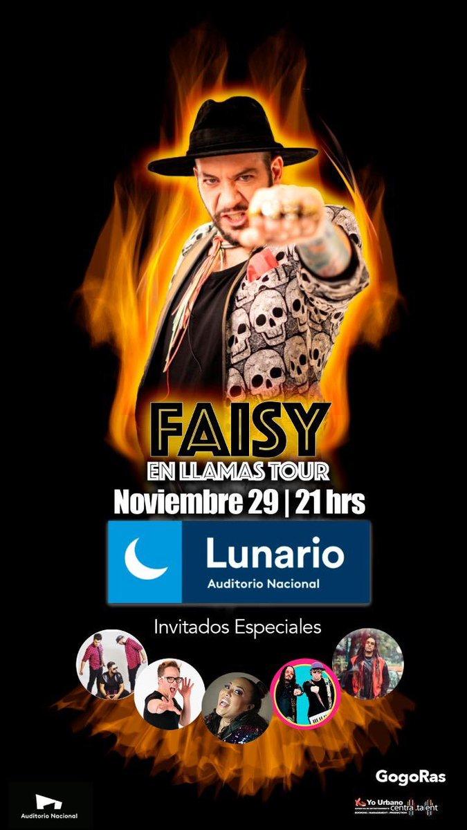 No te pierdas el gran concierto de mi querido @faisirrito  HOY es Jueves de 2x1 en ticket Master!!!