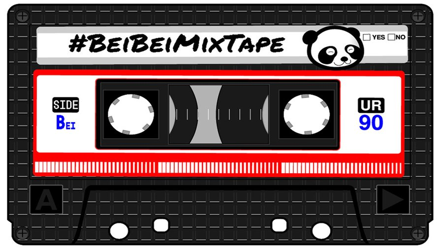 Cassette tape with #BeiBeiMixTape written on the label.