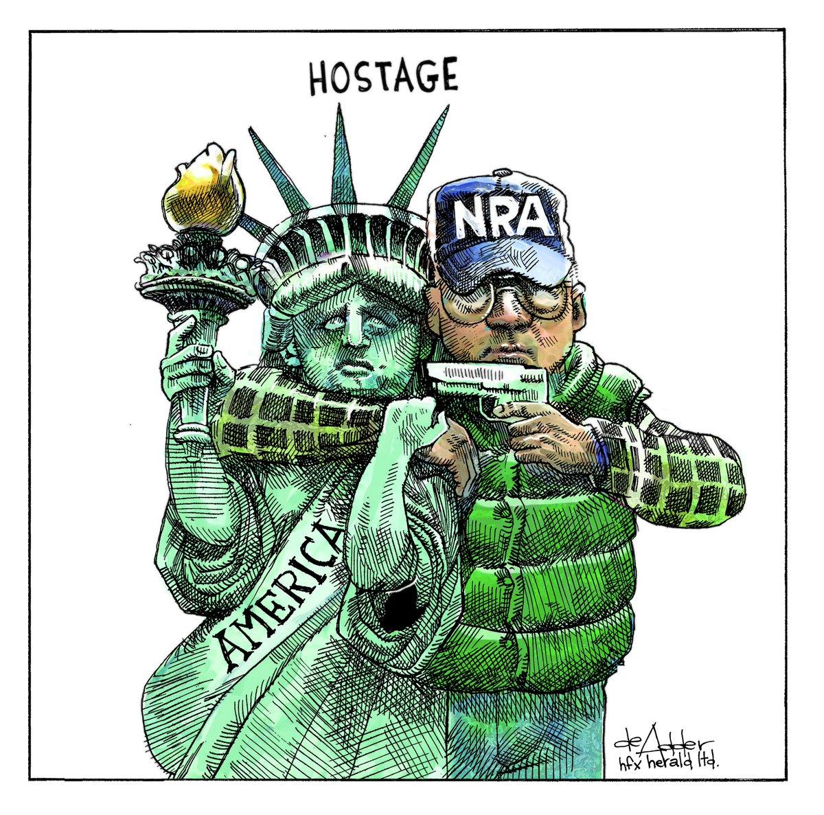 Another school shooting. Cartoonss for @newcounterpoint @TorontoStar @chronicleherald #schoolshooting #school #NRA #SantaClaritaStrong #santaclarita
