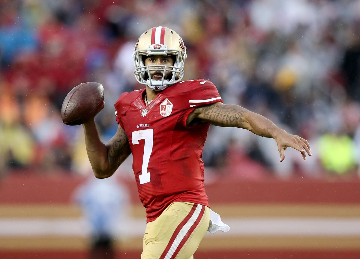 NFL confirms the following teams will attend Kap's workout: ➖Patriots ➖Dolphins ➖Broncos ➖Lions ➖Cardinals ➖Falcons ➖Browns ➖Giants ➖Jets ➖Bucs ➖Redskins More expected to come, too 👀 @brgridiron