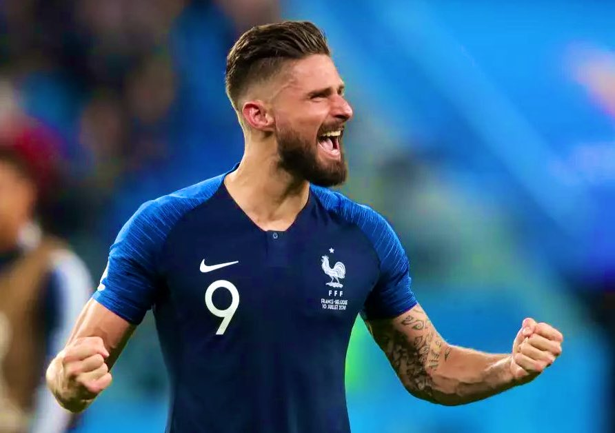 Olivier Giroud closes to within two goals of France's second all-time top scorer!    Thierry Henry (51)  Michel Platini (41)  Olivier Giroud (39) <br>http://pic.twitter.com/jbpE1UVNgI