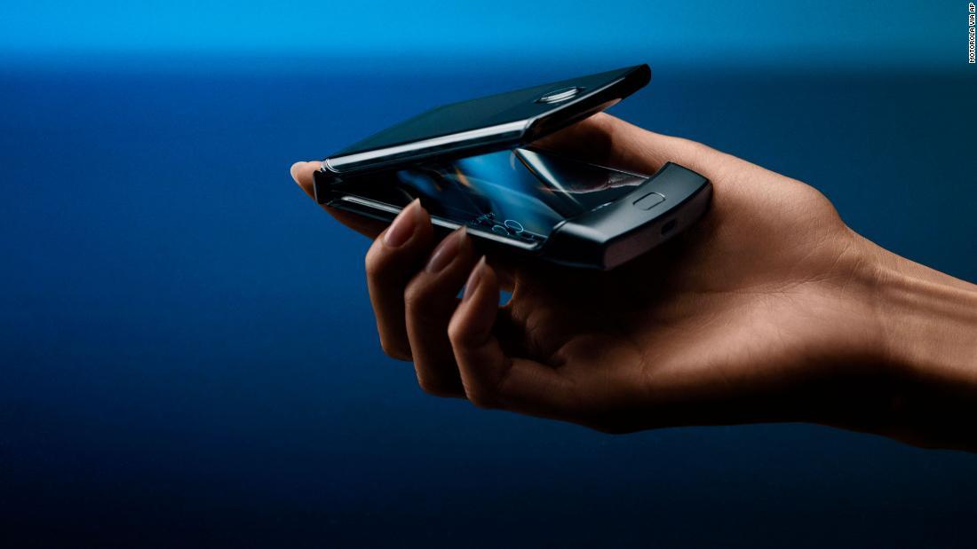 Hello, Moto. Motorola's legendary Razr flip phone from 2004 has been modernized into a $1,500 smartphone https://cnn.it/33NYgj9