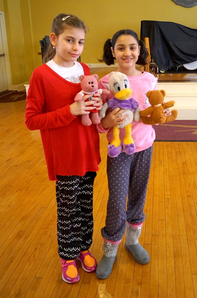 Its #PajamaDay at Adelphi Academy! Adelphians of all ages learned in comfort today as part of this special #SpiritDay event. Heres a #ThrowbackThursday photo of then-Lower Schoolers Nika & Kawther cuddling with their stuffed animal friends on Pajama Day back in 2016-17! #TBT