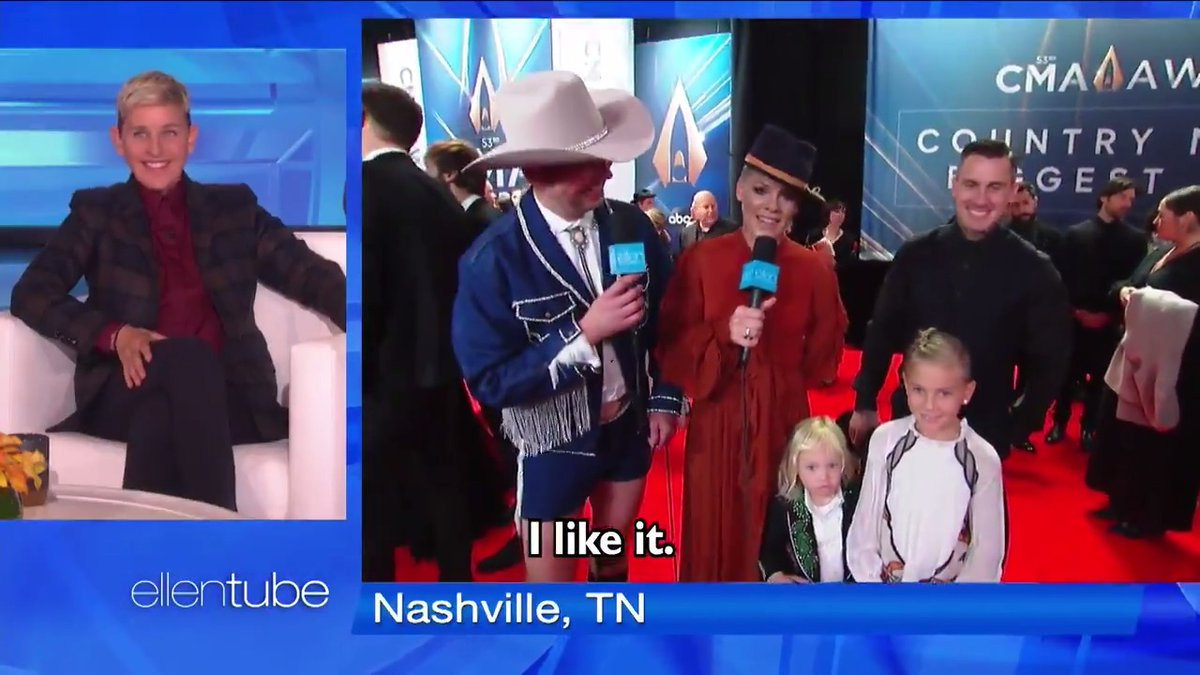 .@Pink , I want you to order me the same suit Jameson has, in an adult size. Thank you, friend. #CMAawards