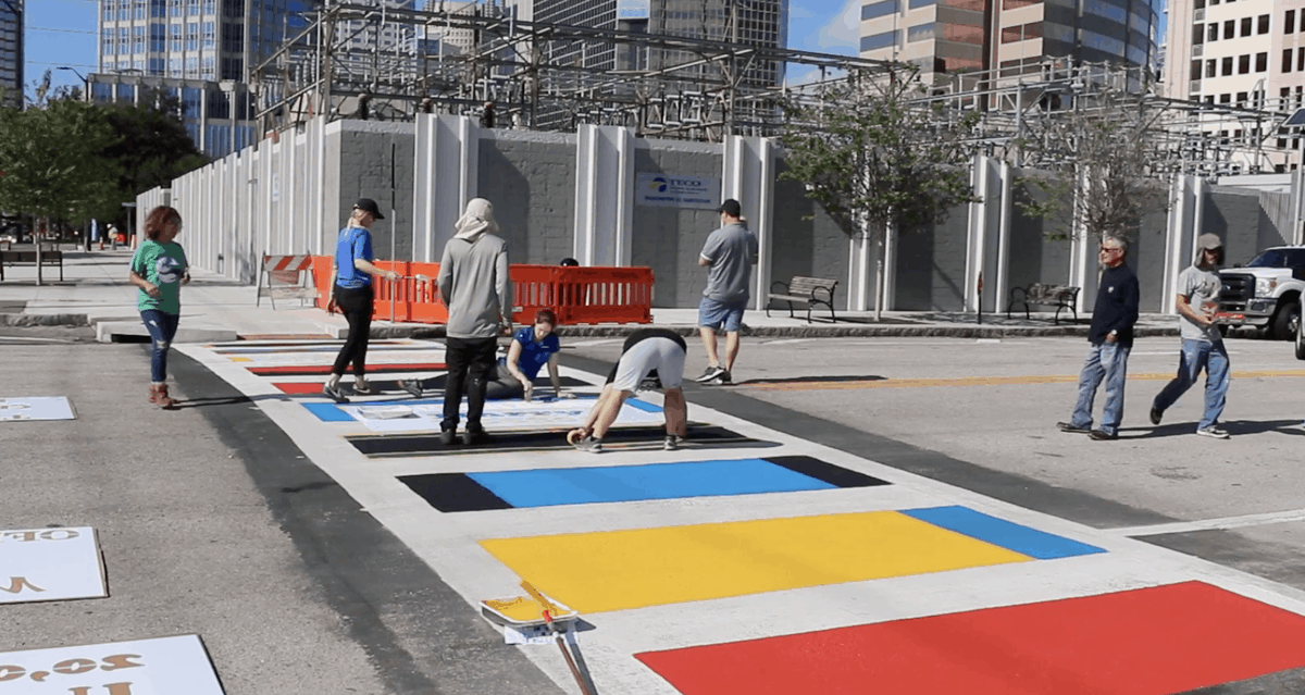 """#Tampa Mayor @JaneCastor unveils first """"Crosswalks to Classrooms"""" as part of the city's Vision Zero commitment to eradicating traffic fatalities via @JanelleIrwinFL http://bit.ly/2Obauvy #FlaPol"""
