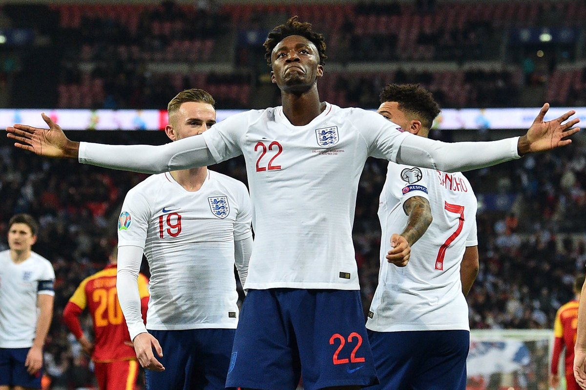 In August, Tammy Abraham was labelled 'not good enough to play at the top level'  Since then:  10 goals in 12 PL games Scored 1st ever PL hat-trick Scored 1st ever UCL goal Called up to England 1st team Scored 1st ever England goal  Not bad for a Championship striker ay? 🤫 https://t.co/nmmJdrvvkK