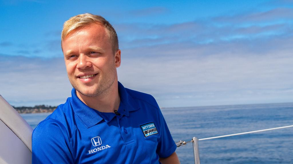 Capsizing boats. Alpine skiing. Auto racing. Driver @FRosenqvist certainly took an interesting route to @IndyCar. He shares his story with @kimmiecoon and @ThatSamSmith in Sunday's episode of OFF THE GRID. Don't miss it on @NBCSN at 9 p.m. PT. #NTTDATARacing
